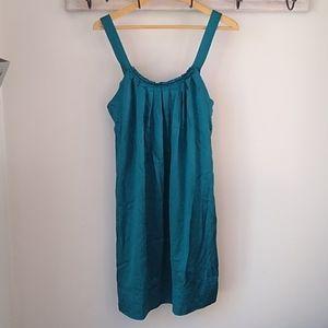 100% silk BCBGMaxzria dress green large